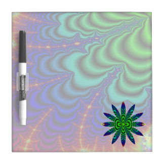 Wormhole Fractal Space Tube with Flower Dry-Erase Board