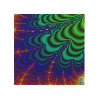 Wormhole Fractal Space Tube Wood Wall Decor