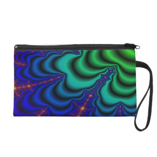 Wormhole Fractal Space Tube Wristlet