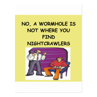 WORMHOLE physics joke Postcard