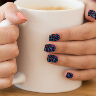 Wormholes of Light Minx Nail Wraps
