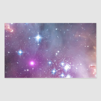 Wormholes y nebulosas rectangular pegatina