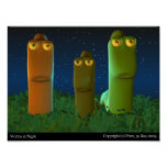 Worms at Night Posters