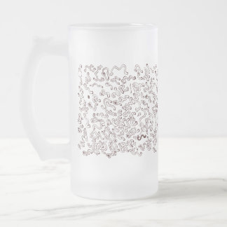 Worms attack! frosted glass beer mug