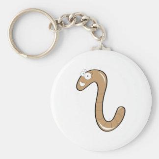 worms basic round button keychain