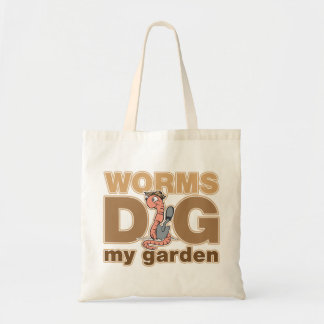 Worms Dig My Garden Tote Bag