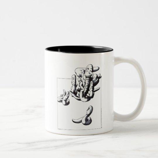 Worms Two-Tone Coffee Mug
