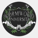 Wormwood University Classic Round Sticker