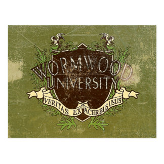 Wormwood University Vintage Postcard