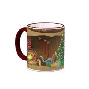 Wormy Christmas mug mug