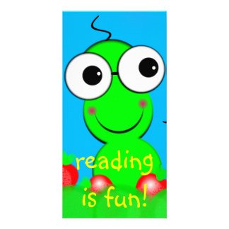 Wormy Designed Book Mark Picture Card