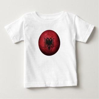 Worn Albanian Flag Football Soccer Ball Baby T-Shirt