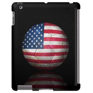 Worn American Flag Football Soccer Ball
