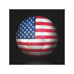 Worn American Flag Football Soccer Ball Stretched Canvas Prints