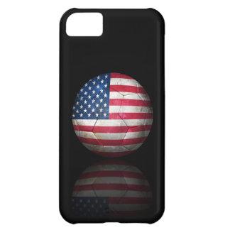Worn American Flag Football Soccer Ball iPhone 5C Covers