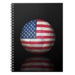 Worn American Flag Football Soccer Ball Journals