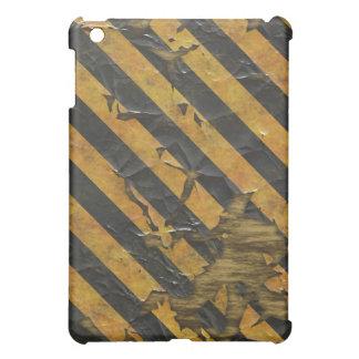 Worn and faded flaky paint illusion hazard design iPad mini case