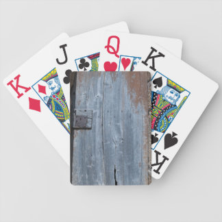Worn and Rusty Wooden Door Bicycle Playing Cards
