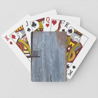 Worn and Rusty Wooden Door Deck Of Cards