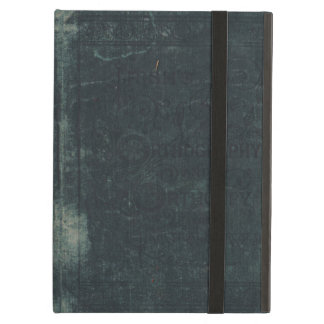 Worn and Torn Vintage Blue Book Cover iPad Folio Case