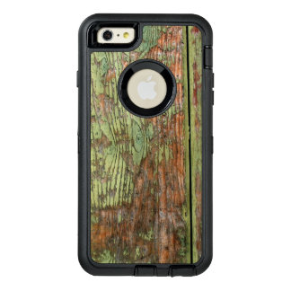 Worn and Weathered Green Barn Wood OtterBox Defender iPhone Case