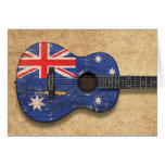 Worn Australian Flag Acoustic Guitar Cards