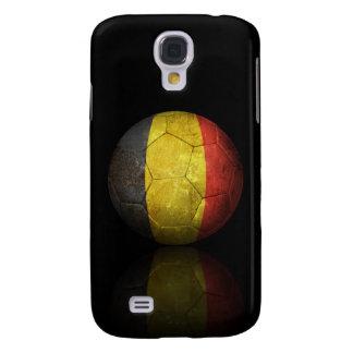 Worn Belgian Flag Football Soccer Ball Galaxy S4 Cases