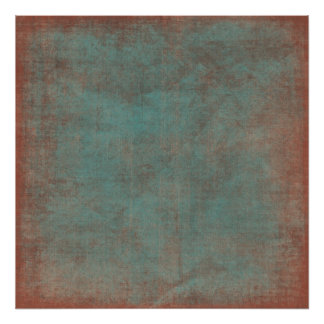 Worn Blue & Red Backdrop Canvas Posters