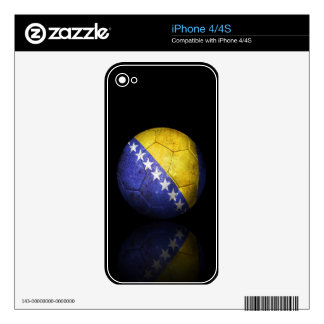 Worn Bosnia Herzegovina Flag Football Soccer Ball Decals For The iPhone 4