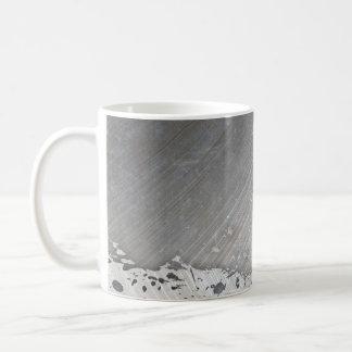 Worn Brushed Metal (faux) Layout Coffee Mug