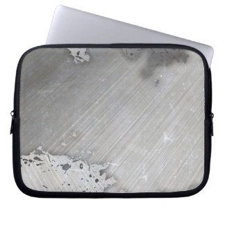 Worn Brushed Metal (faux) Layout Computer Sleeve