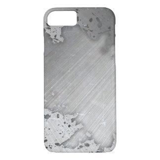 Worn Brushed Metal (faux) Layout iPhone 7 Case