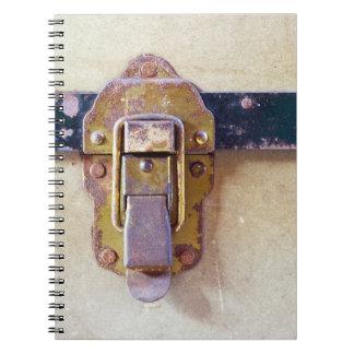 Worn Catch on Old Case Notebooks
