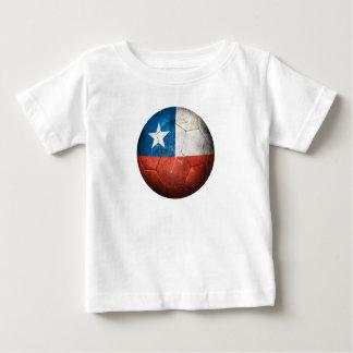Worn Chilean Flag Football Soccer Ball Baby T-Shirt