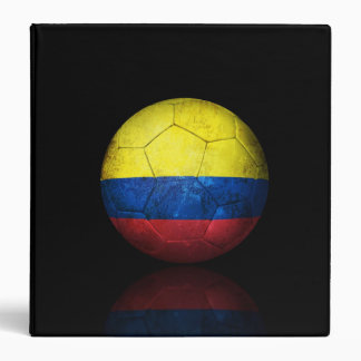 Worn Colombian Flag Football Soccer Ball Binder