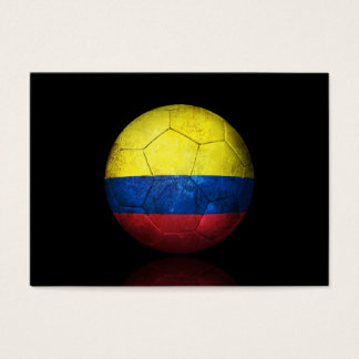 Worn Colombian Flag Football Soccer Ball Business Card