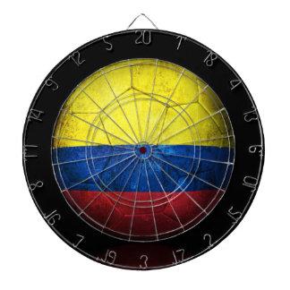Worn Colombian Flag Football Soccer Ball Dartboards