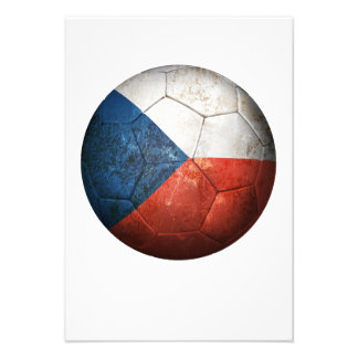 Worn Czech Republic Flag Football Soccer Ball Personalized Announcement