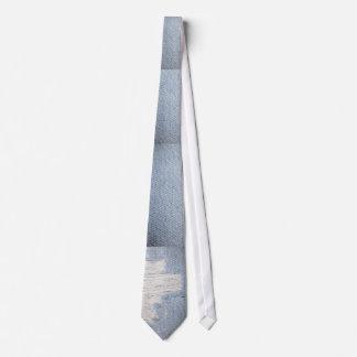 Worn Denim-Look Men's Tie