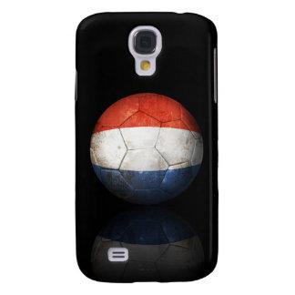 Worn Dutch Flag Football Soccer Ball Samsung Galaxy S4 Case