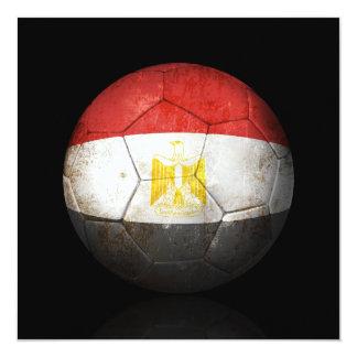 Worn Egyptian Flag Football Soccer Ball Card
