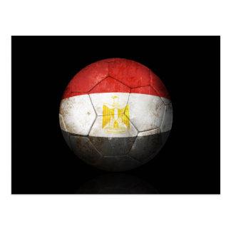 Worn Egyptian Flag Football Soccer Ball Postcard