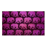 Worn Elephant Silhouettes Pattern, purple Double-Sided Standard Business Cards (Pack Of 100)