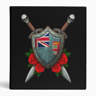 Worn Fiji Flag Shield and Swords with Roses Binder