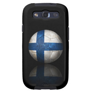 Worn Finnish Flag Football Soccer Ball Samsung Galaxy SIII Case