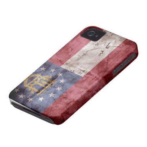 Worn Georgia Flag; iPhone 4 Case-Mate Cases