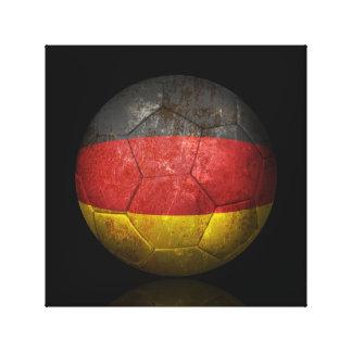 Worn German Flag Football Soccer Ball Canvas Prints