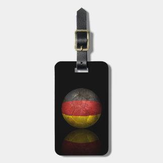 Worn German Flag Football Soccer Ball Bag Tag