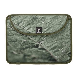 "Worn green leaf 13"" sleeve for MacBook pro"