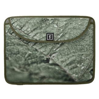 "Worn green leaf 15"" sleeves for MacBooks"